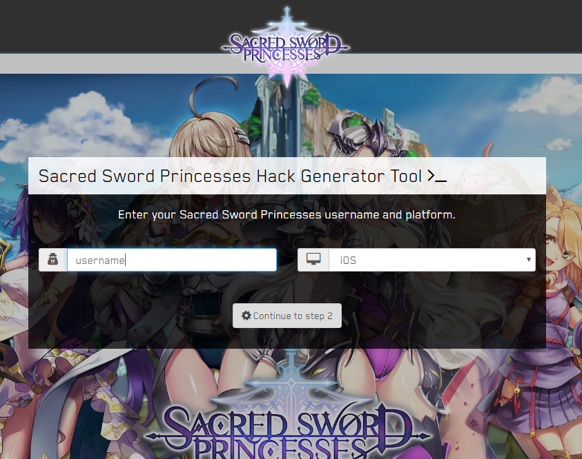Sacred sword Princesses hack